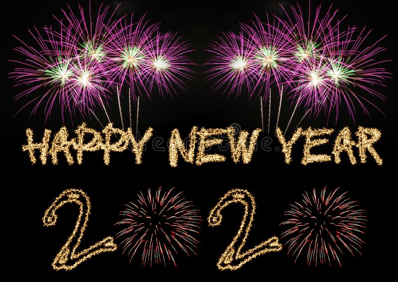 Happy New Year 2020. Sparklers firework royalty free stock photography